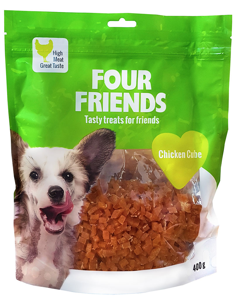 FOUR FRIENDS Chicken Cube storpack 400 gr.