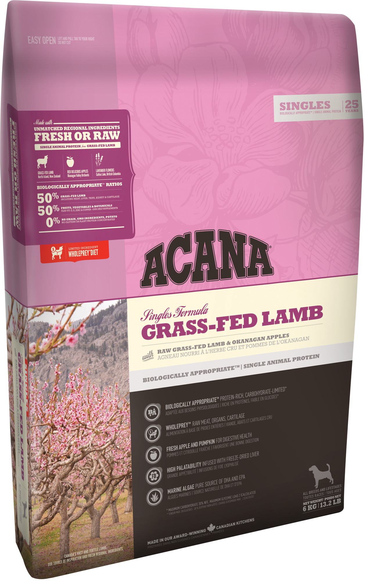 ACANA Grass-Feb Lamb 6 kg.