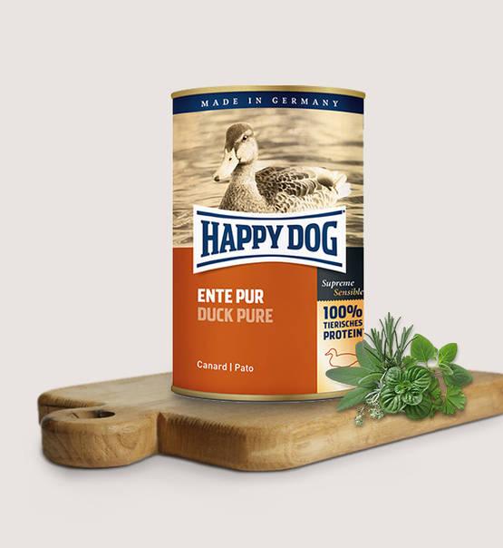 HAPPY DOG konserv 100% animaliskt Anka 400gr