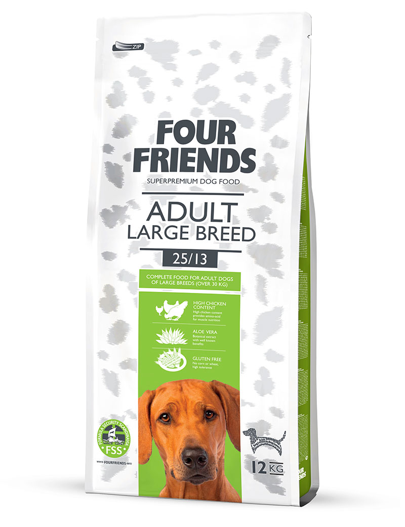 FOUR FRIENDS Adult Large Breed 12 kg.