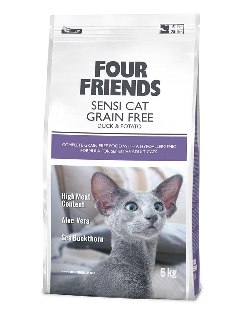 FOUR FRIENDS Grain-free Sensi Cat 6 kg.