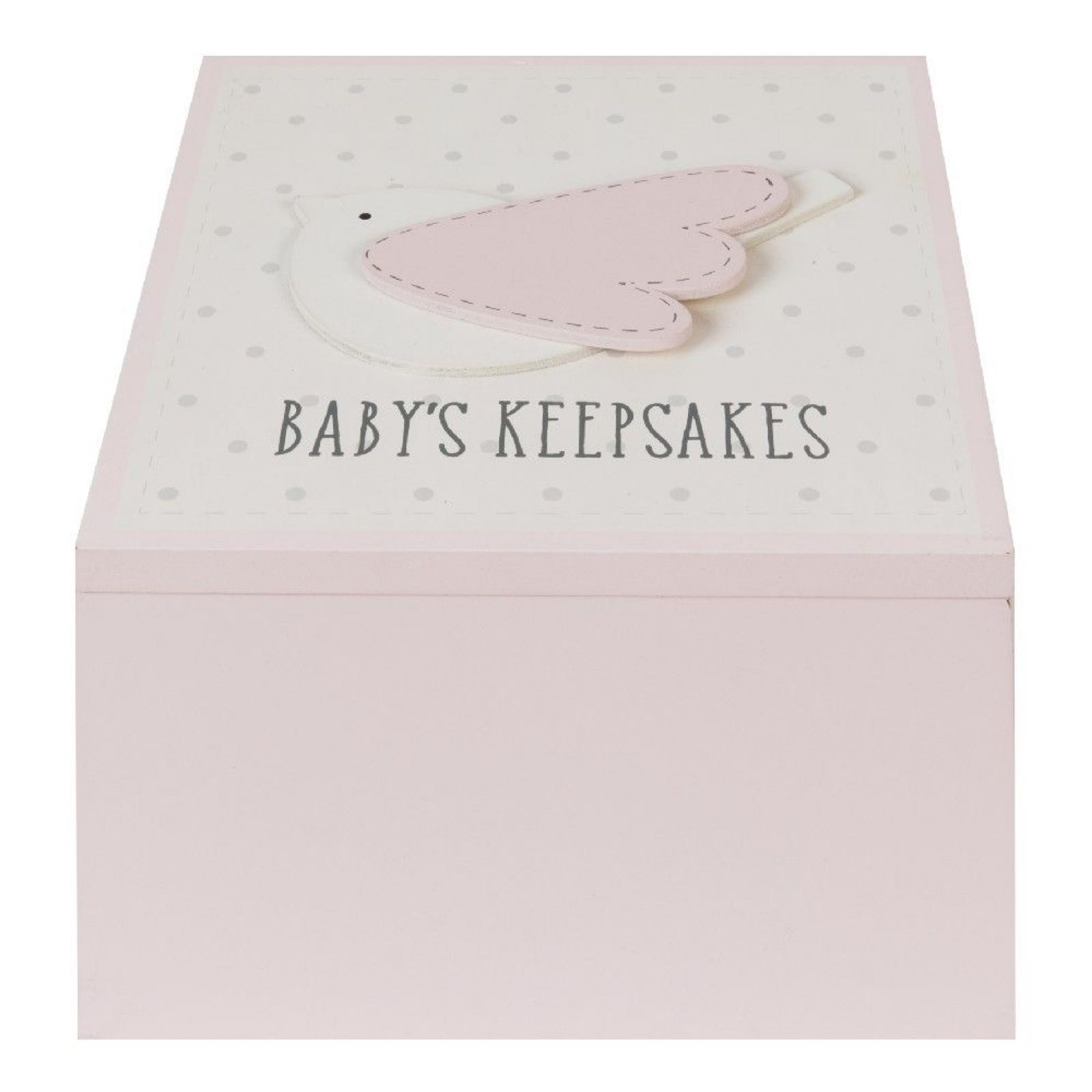 Pink Bird Keepsake Box (can be engraved)