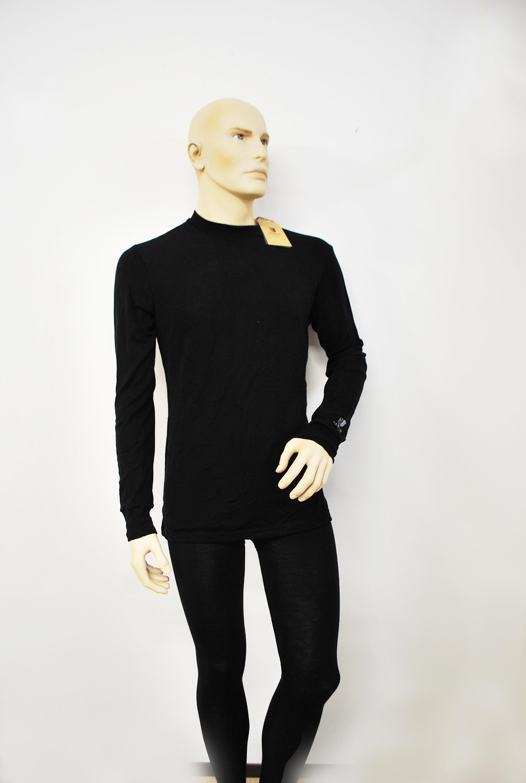 Janus black wool, herr longsleeve