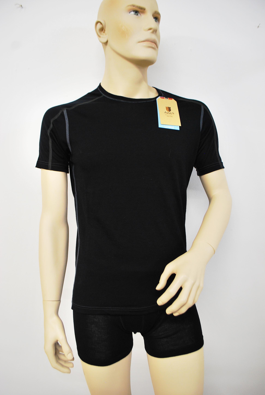Janus black wool, herr, t-shirt