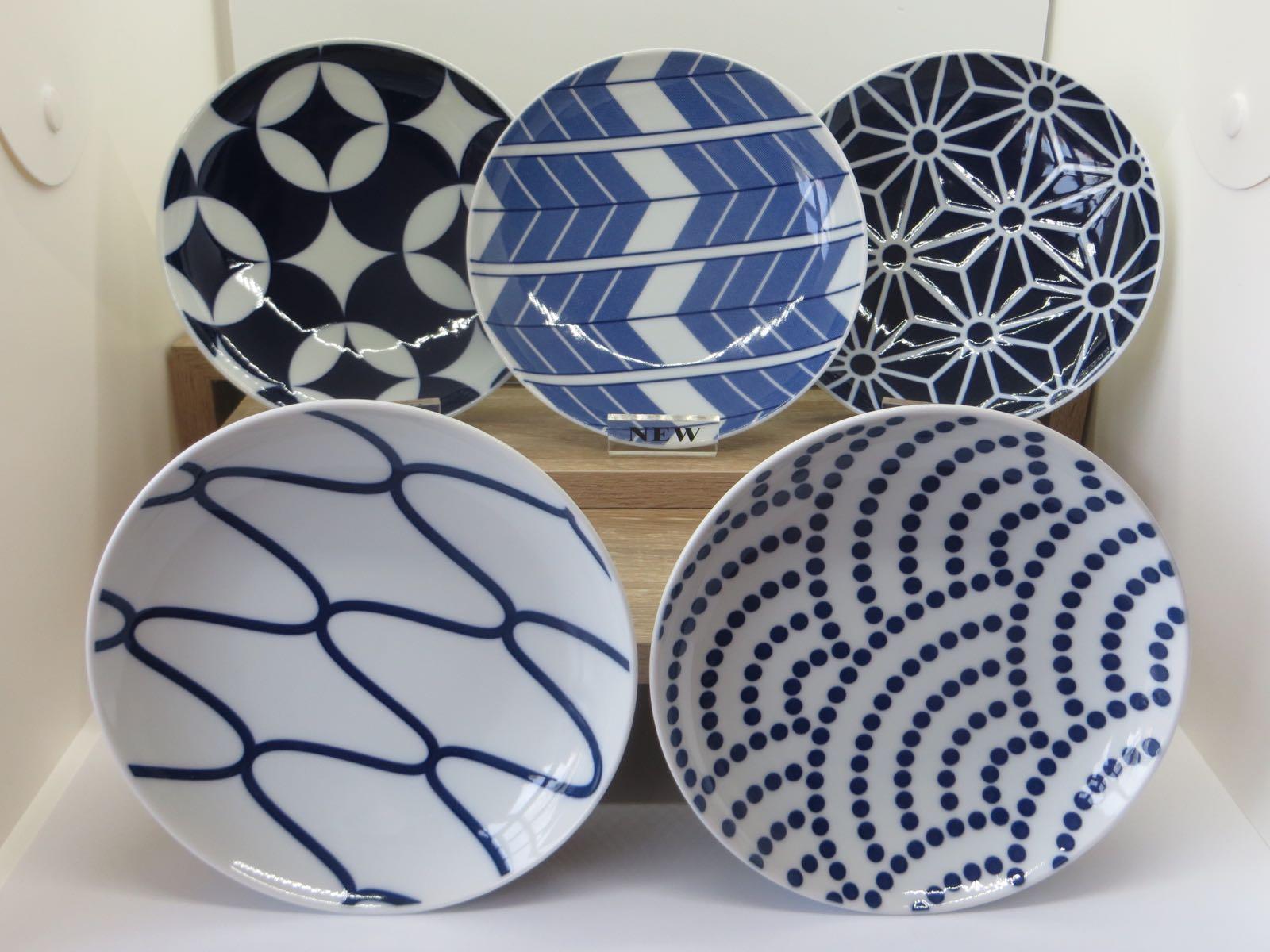 KIHARA Komon 15cm Plate Set (5 pieces)