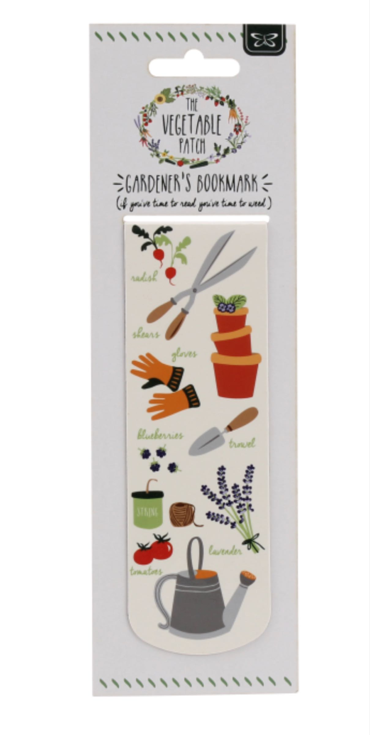 Vegetable Patch Magnetic  Bookmark