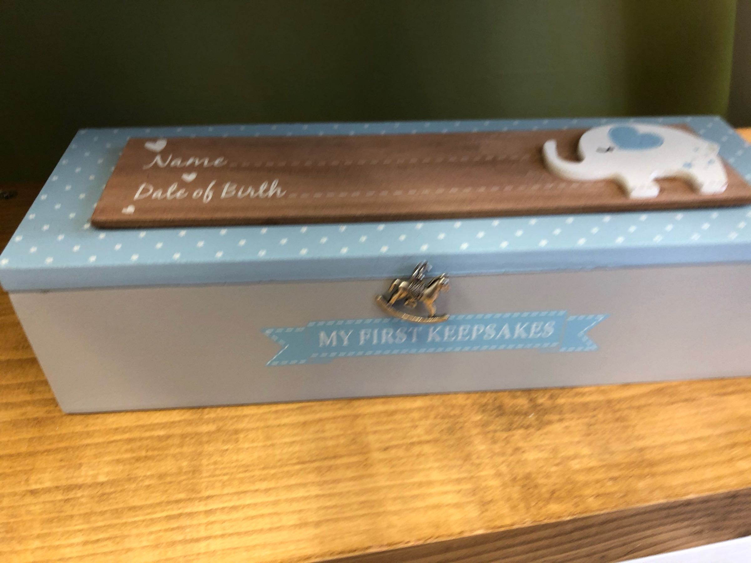 Baby Certificate Keepsake Box