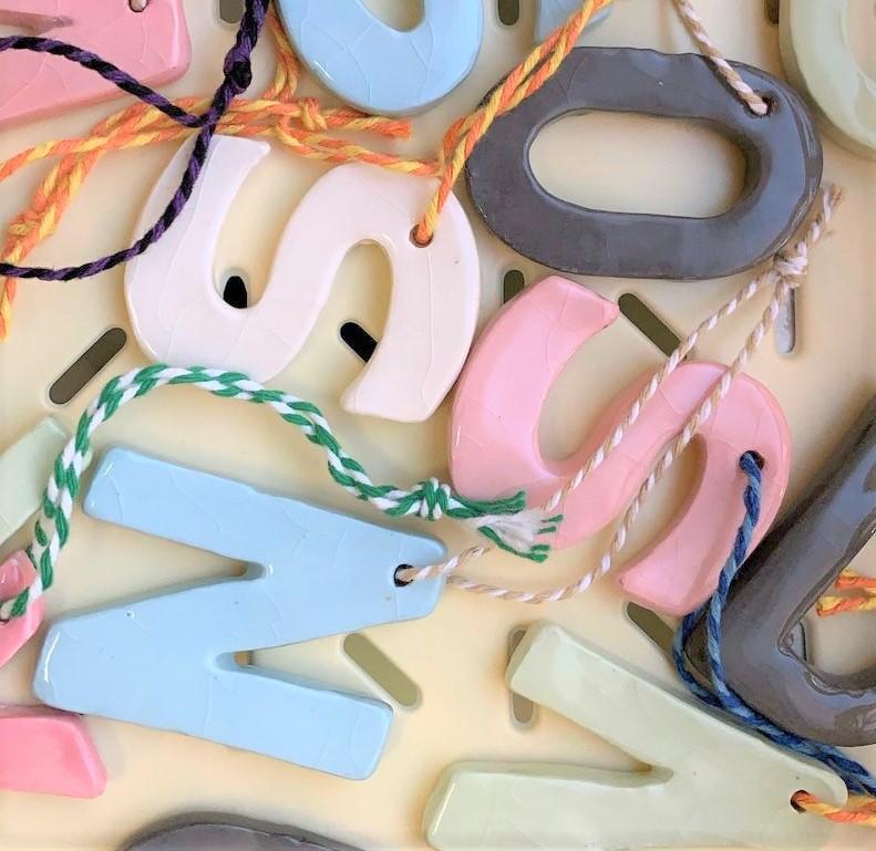 Hannah Way - Ceramic Letters A-M