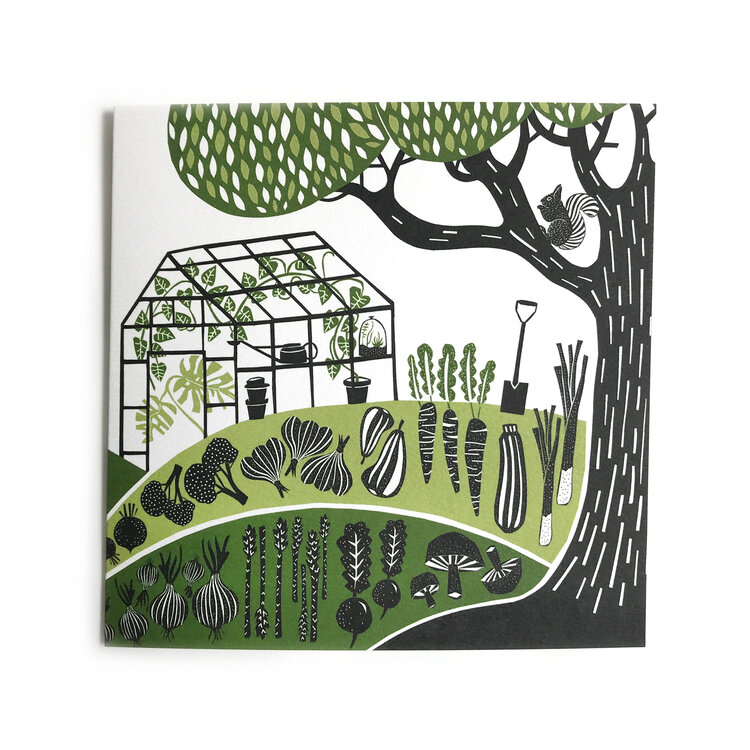 Folded Forest Greetings Card - Allotment