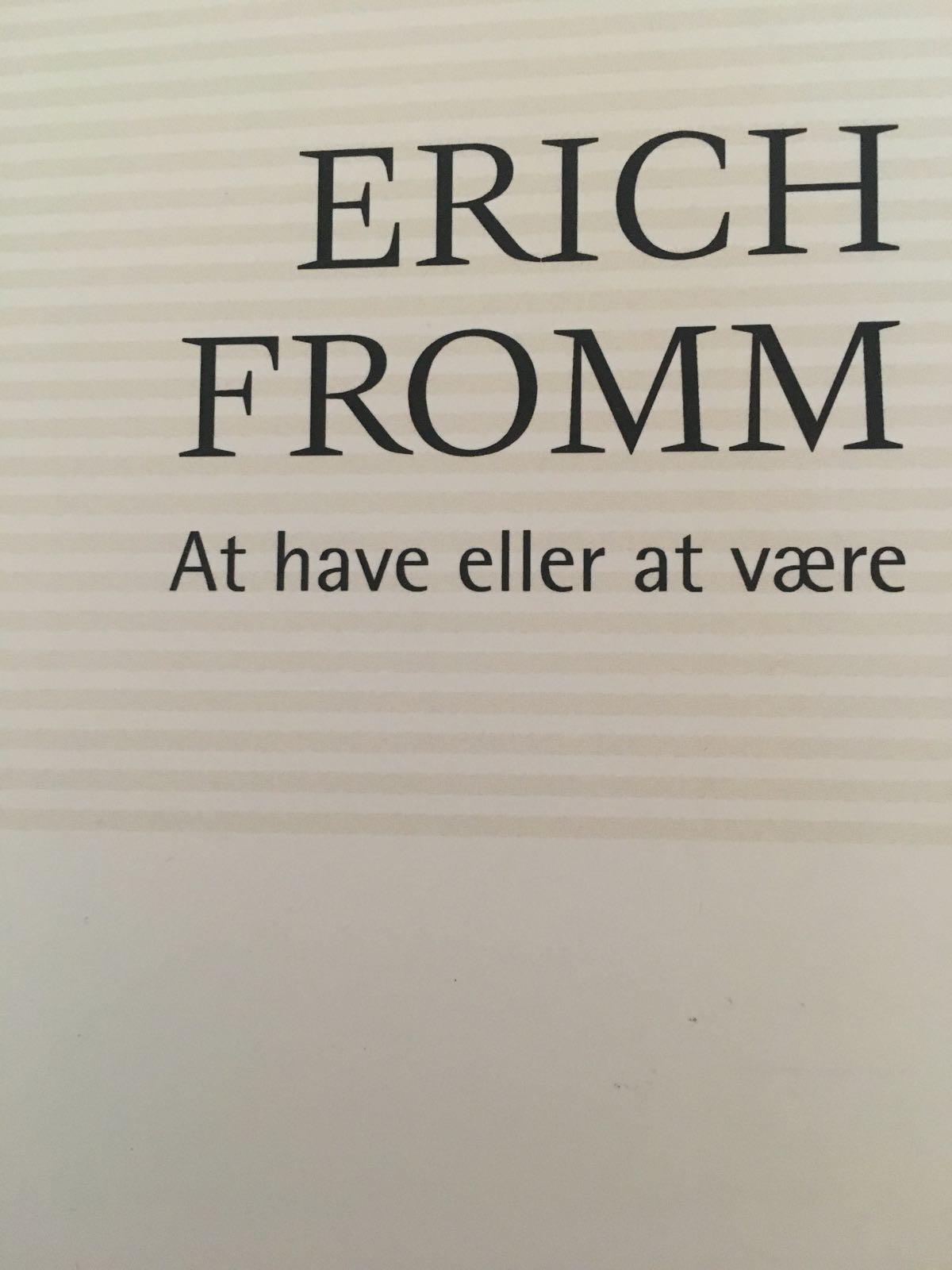 At have eller at være  af Erich Fromm