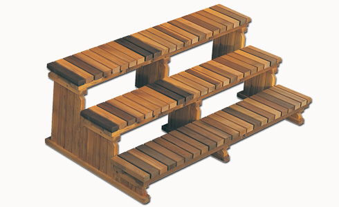 Trapp 3 trinn 183 cm (8 fot) Cedar