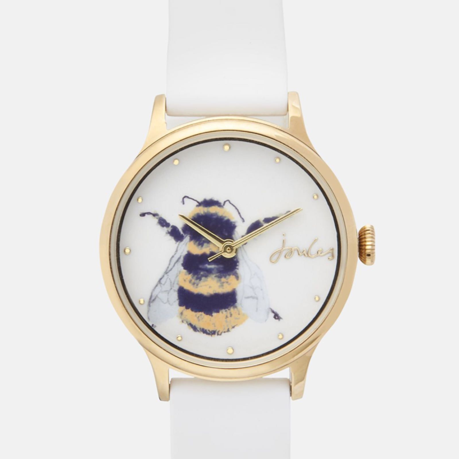 Joules Ren Bee ladies silicone strap watch