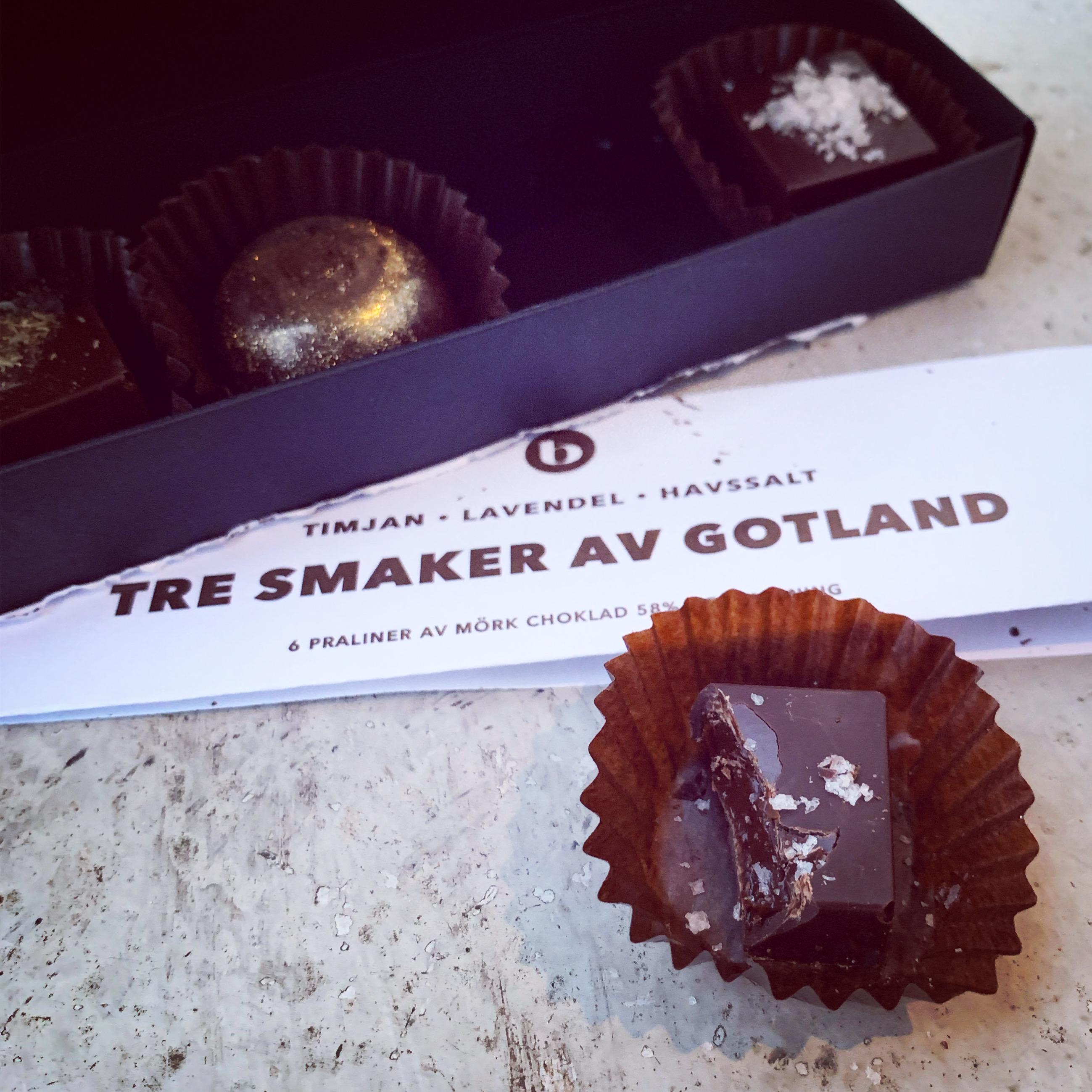 Tre smaker av Gotland – Praliner