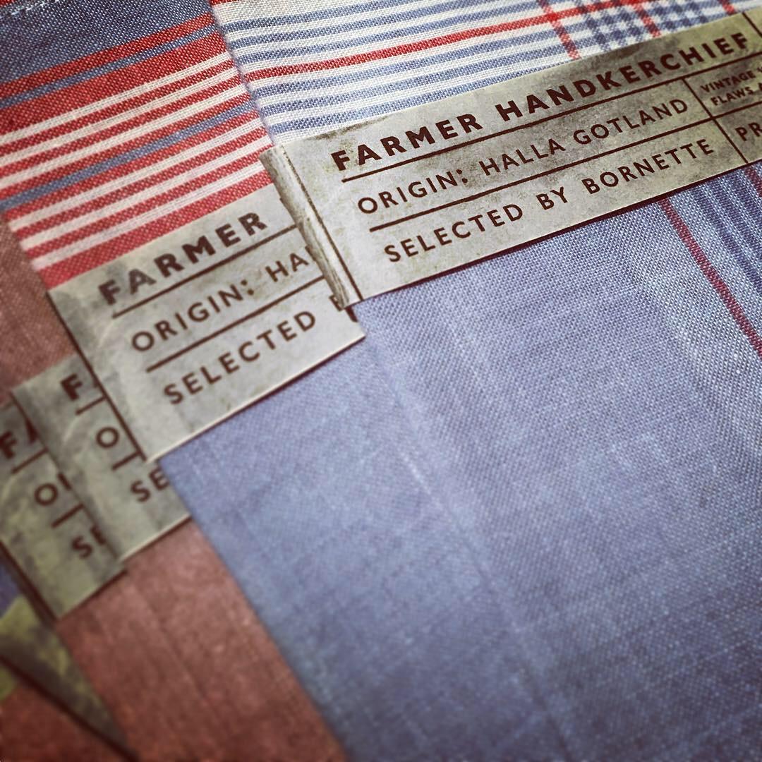 Vintage Farmer Hankerchief