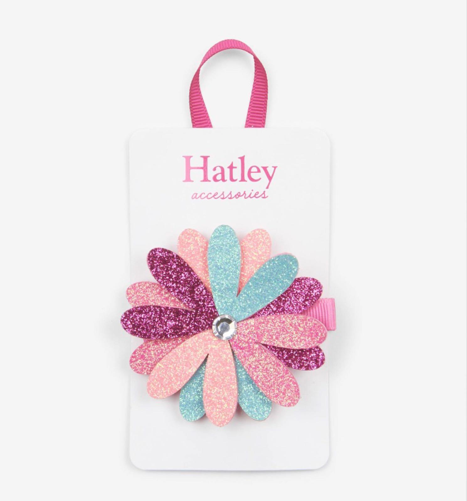 Hatley Shimmer Large Flower Hair Clip