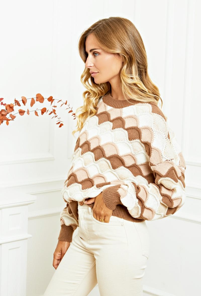 """Scallop Sweater Pullover """"Bea"""""""