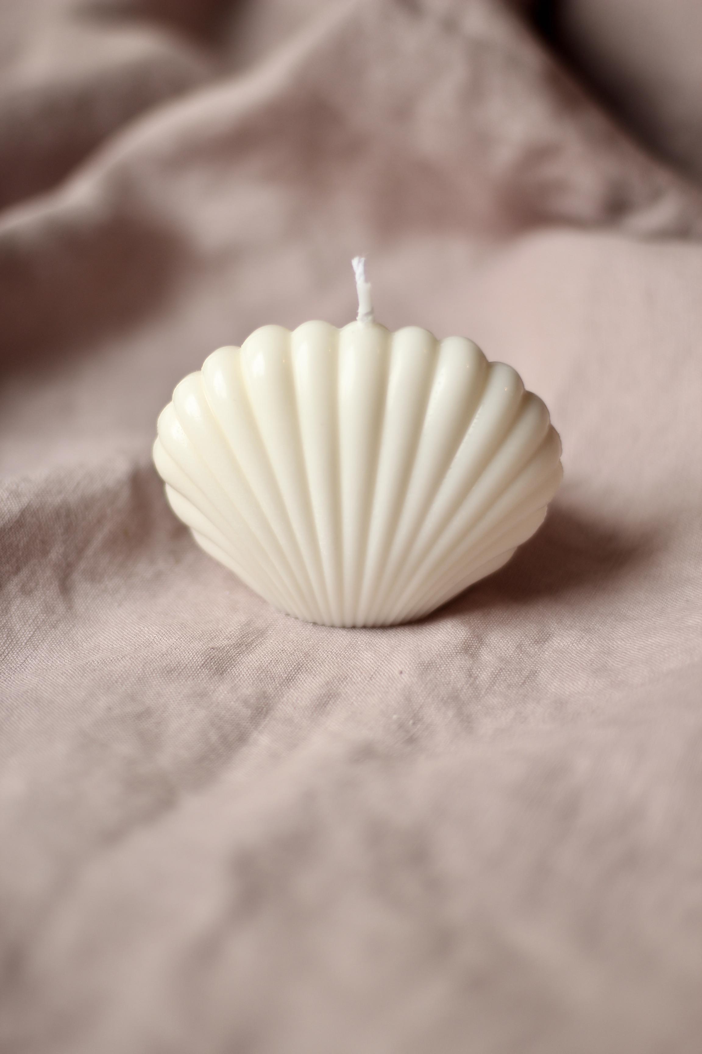 Shell Candle Kerze 6 cm x 5 cm
