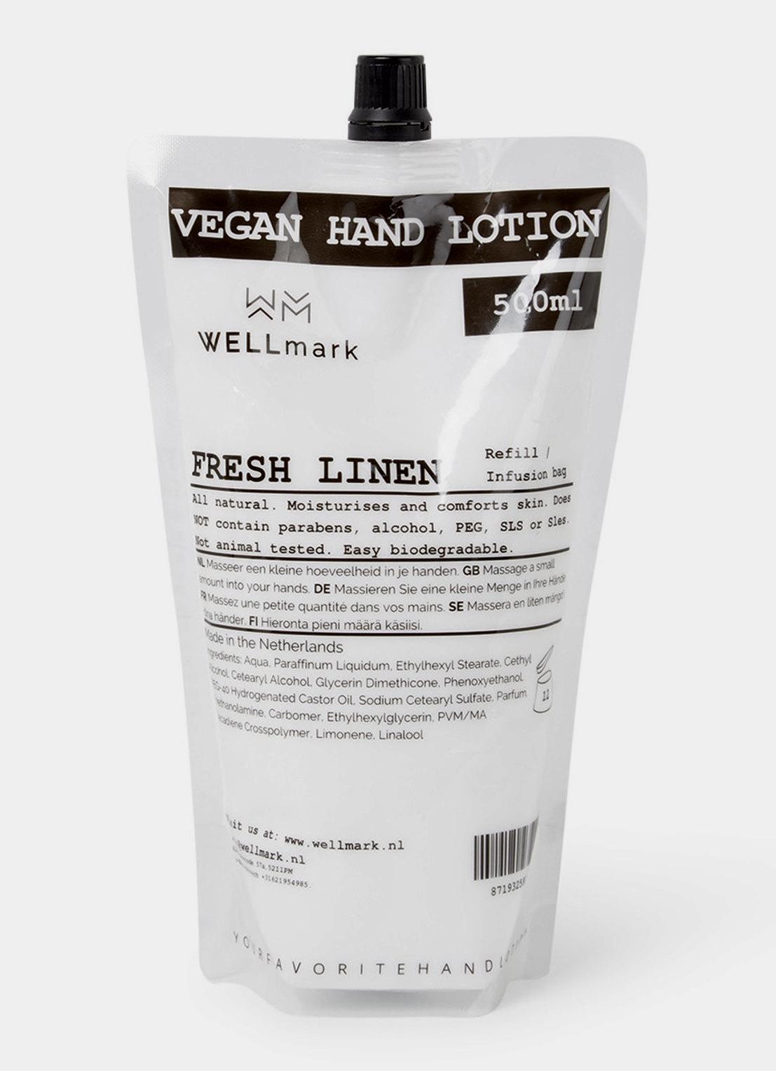 Fresh Linen Vegan Hand Lotion 500 ml by Wellmark