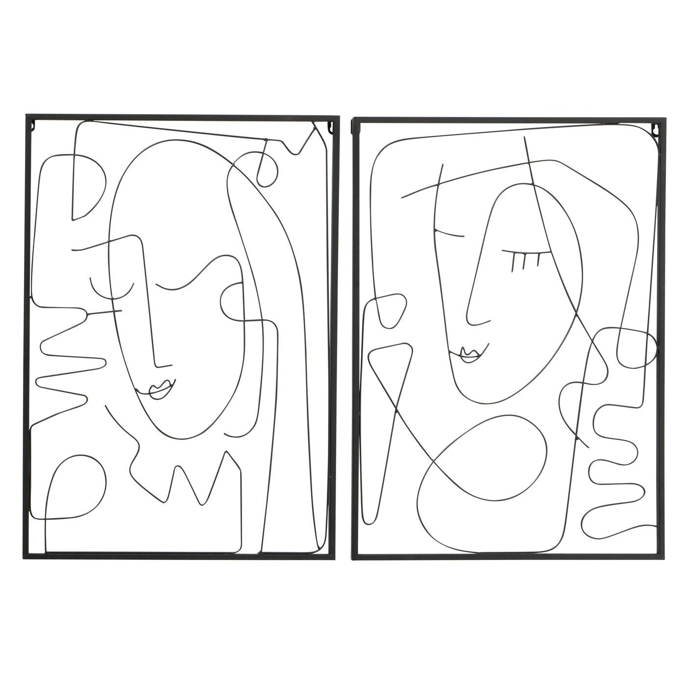 """Bild Wandobjekt aus Metall """"One Line Art"""""""
