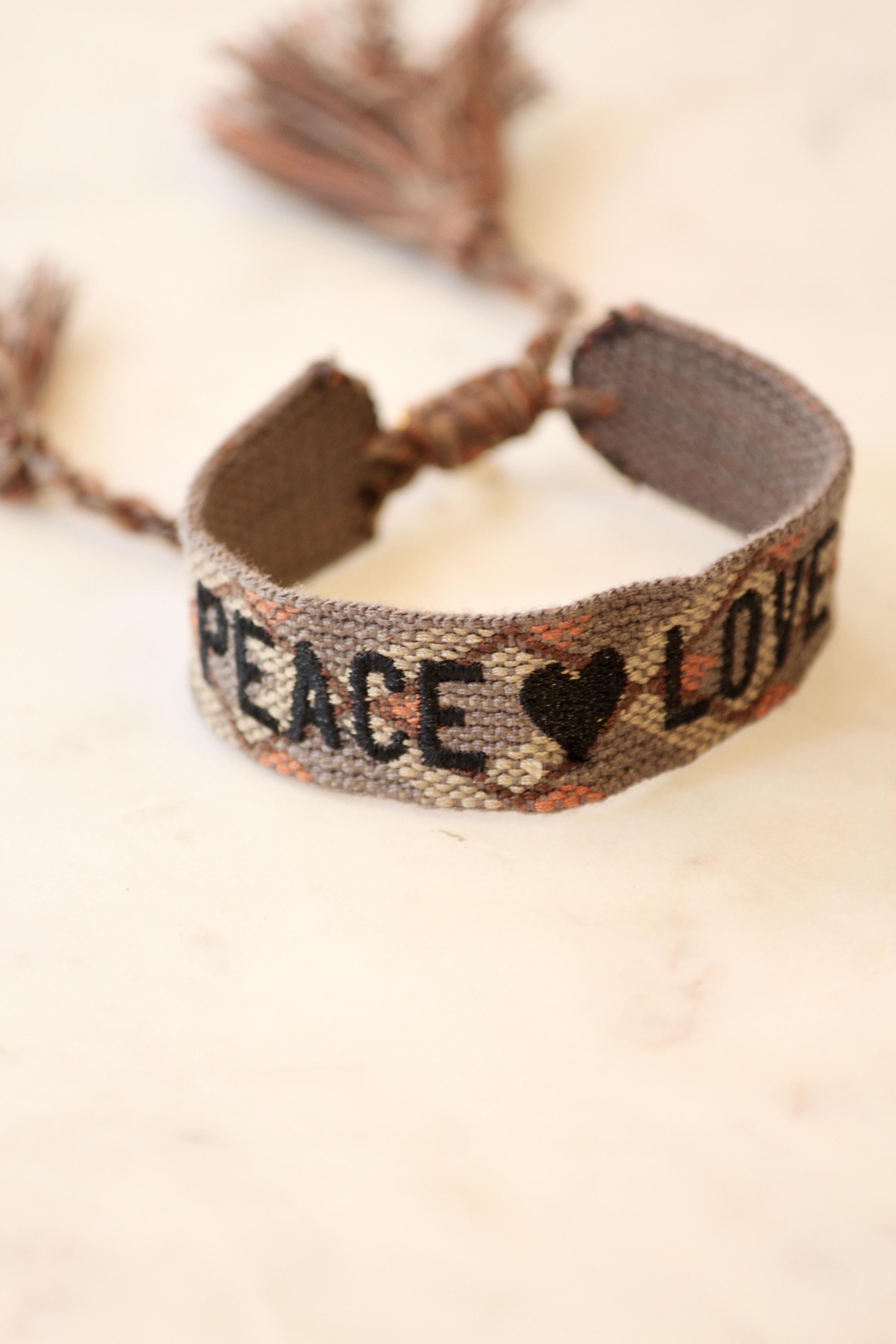 """Boho Armband """"PEACE LOVE"""""""