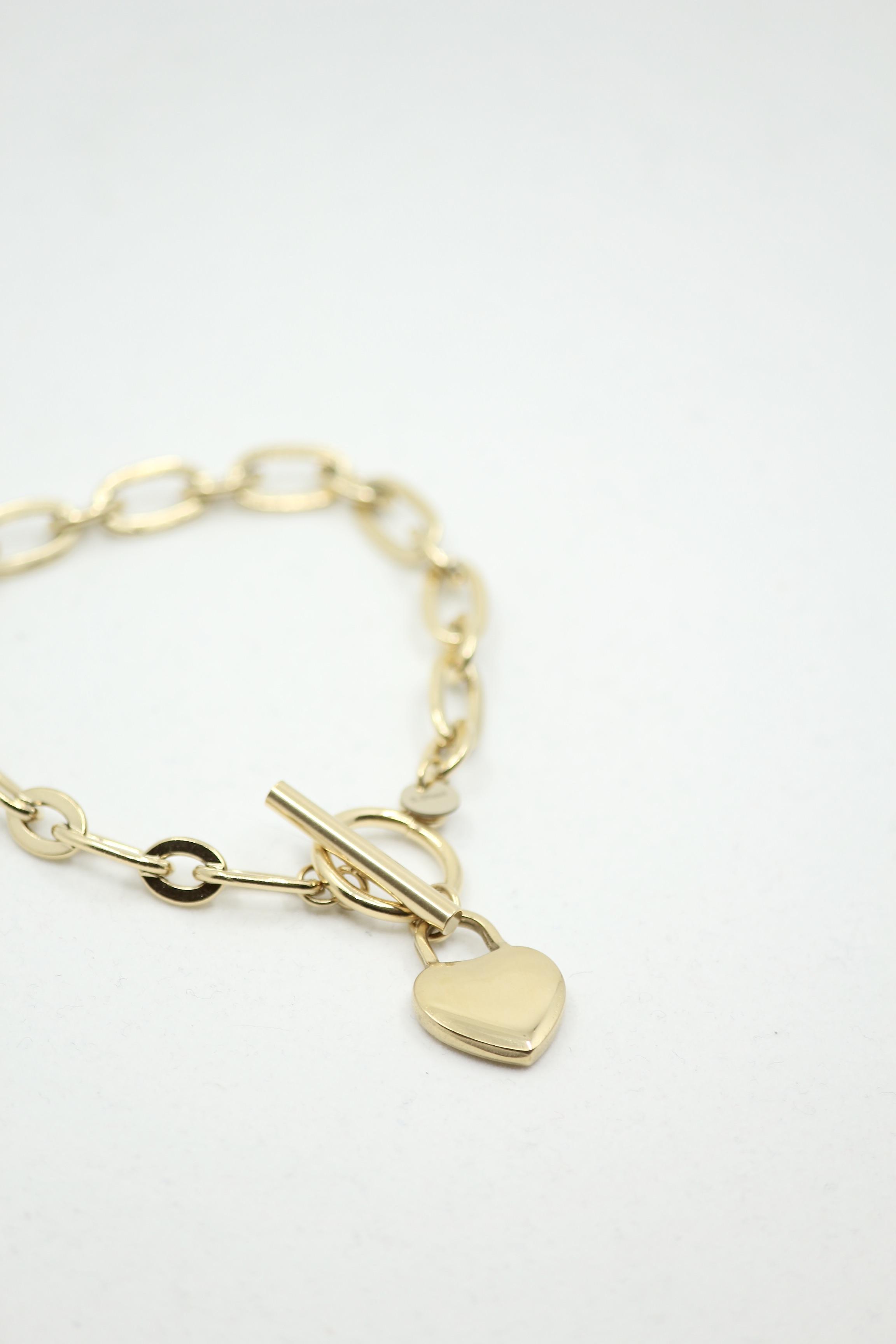 "Chunky Chain Bracelet ""Heart"""