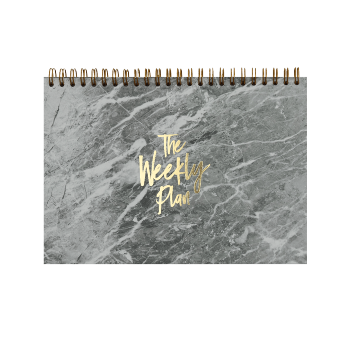 """Weekly Planner 2021 """"Marble Gold"""""""