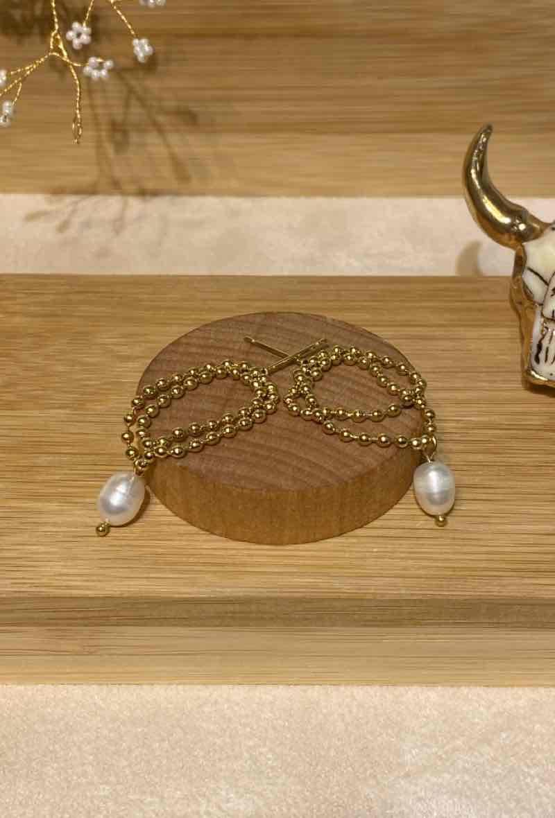 "Ohrringe ""Pearl Chain"""
