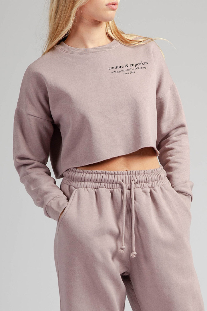 Couture & Cupcakes Cropped Sweater