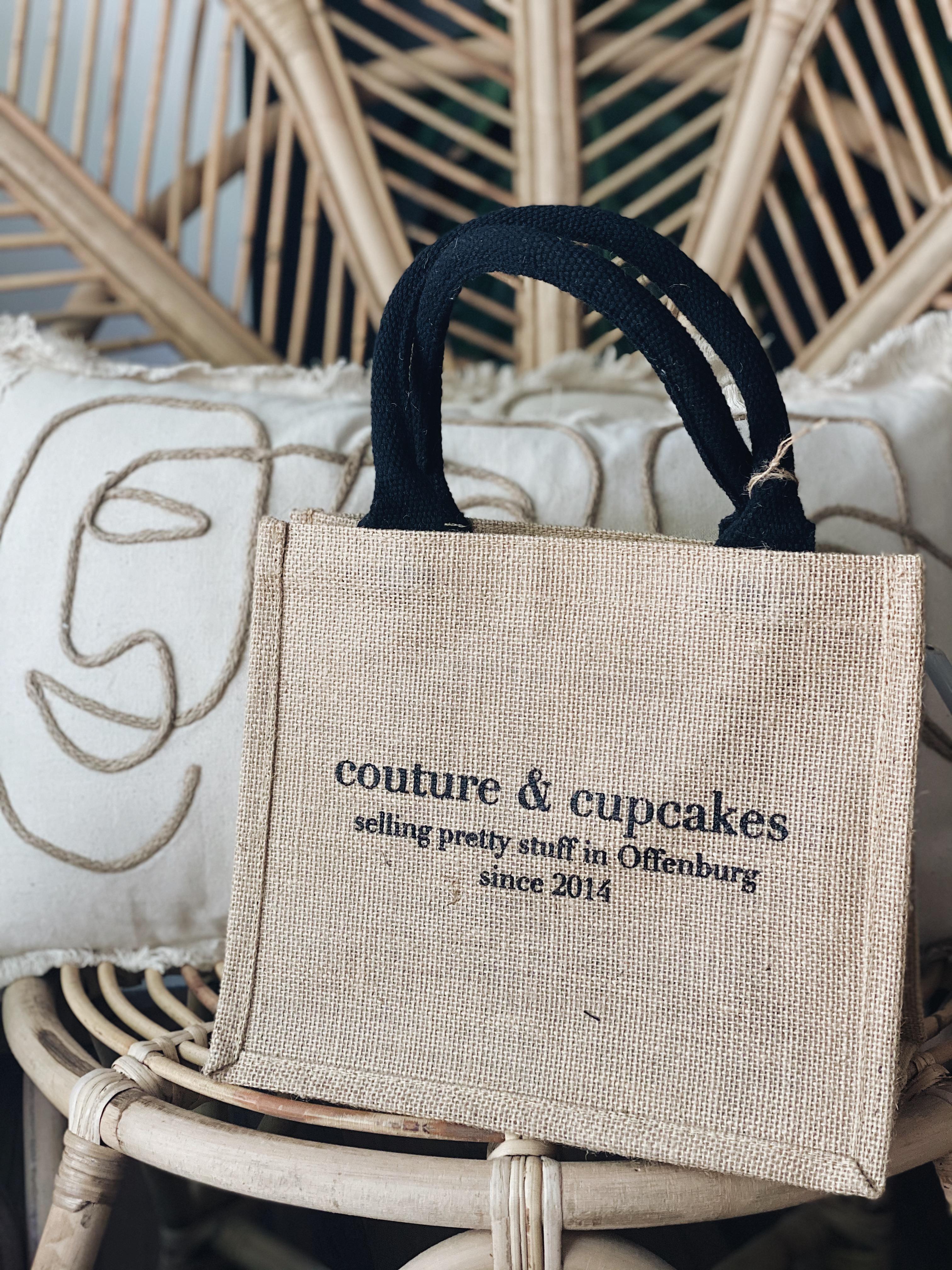 Couture & Cupcakes Jute Tasche klein