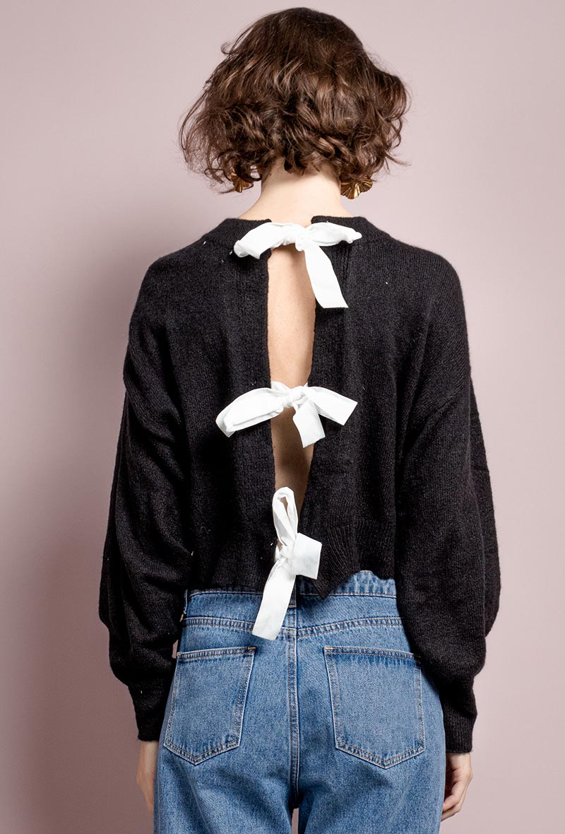 """Cropped Pullover """"Coco Bow"""""""