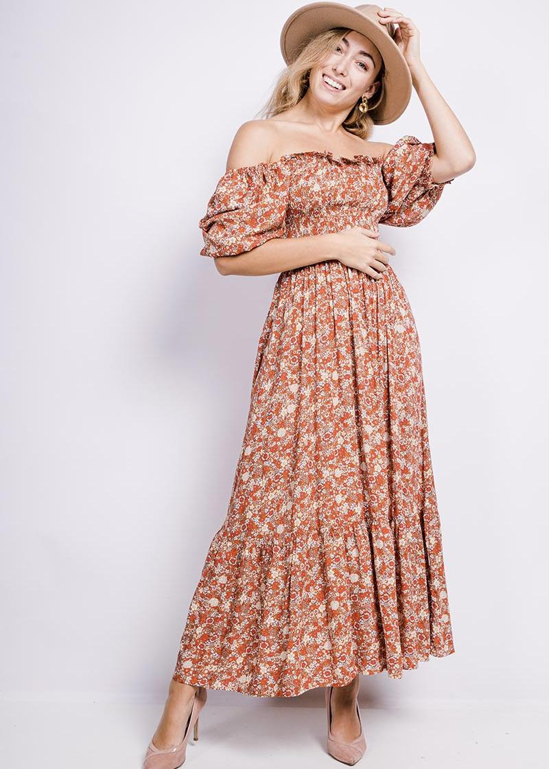 "Midi Kleid Smock Dress ""Mila"""