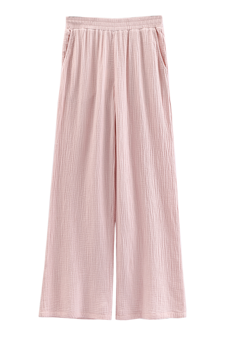 Wide Leg Hose aus Baumwollmusselin