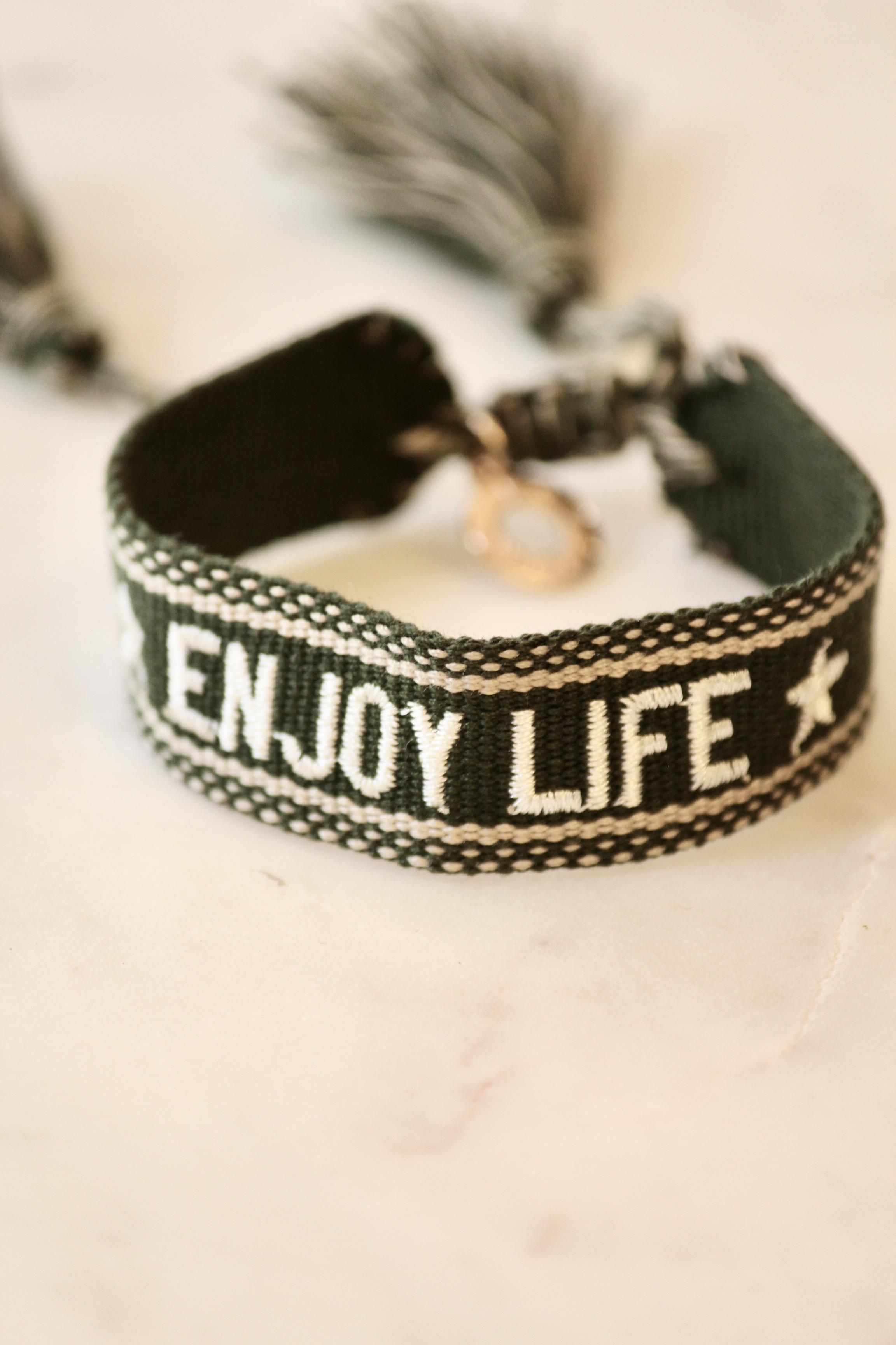 """Boho Armband """"ENJOY LIFE"""""""