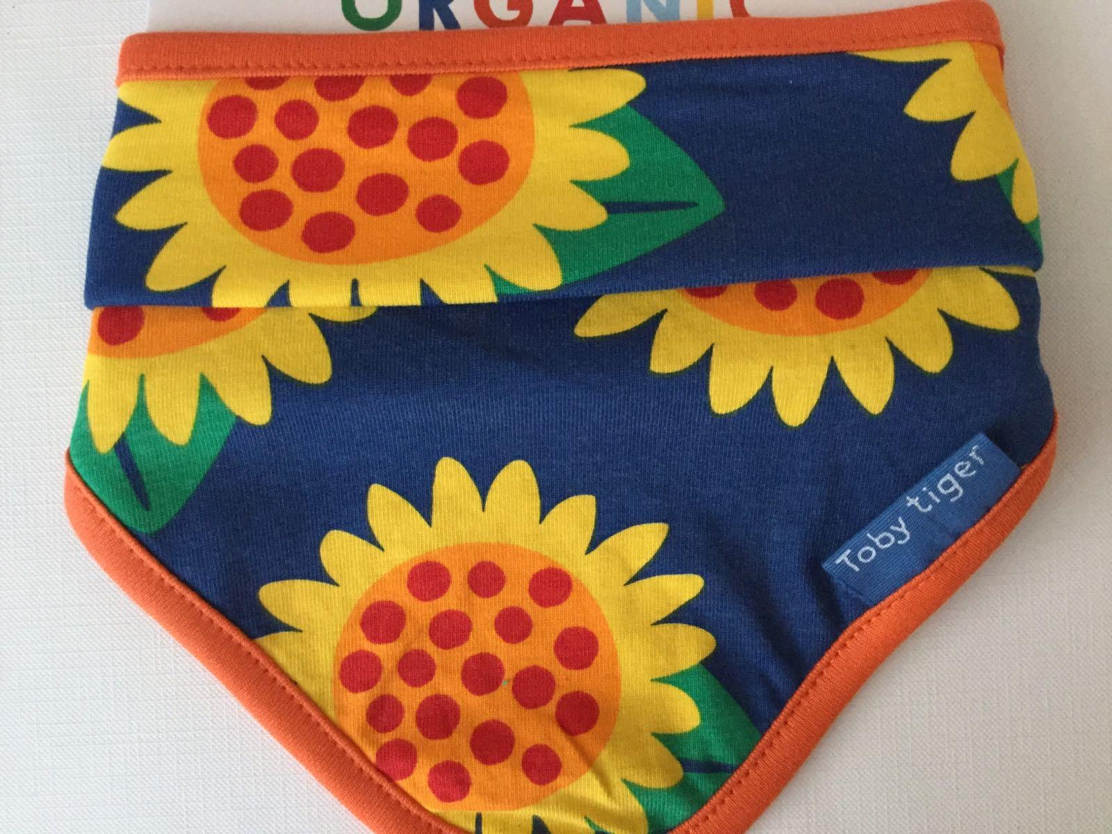 Toby tiger - dribble bib -   Sunflower print