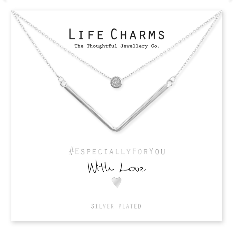 Life Charms Chevron Necklace