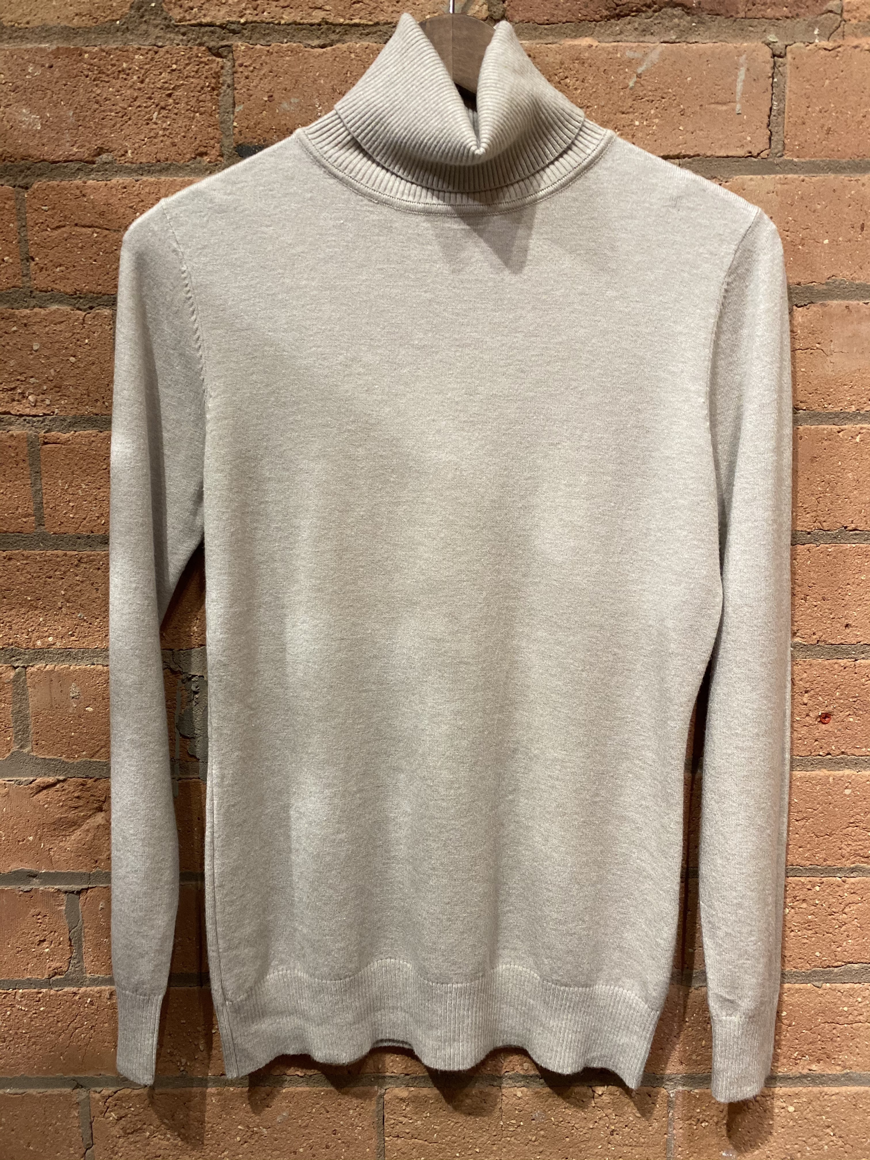 Now £10 Beige Soft Polo Neck Jumper