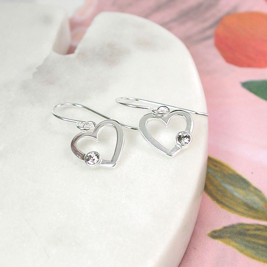 Sterling Silver Crystal Heart