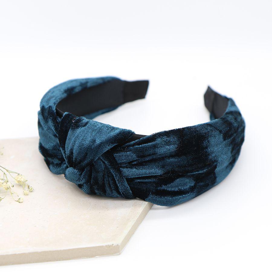 Crushed Velvet Headband (Teal)