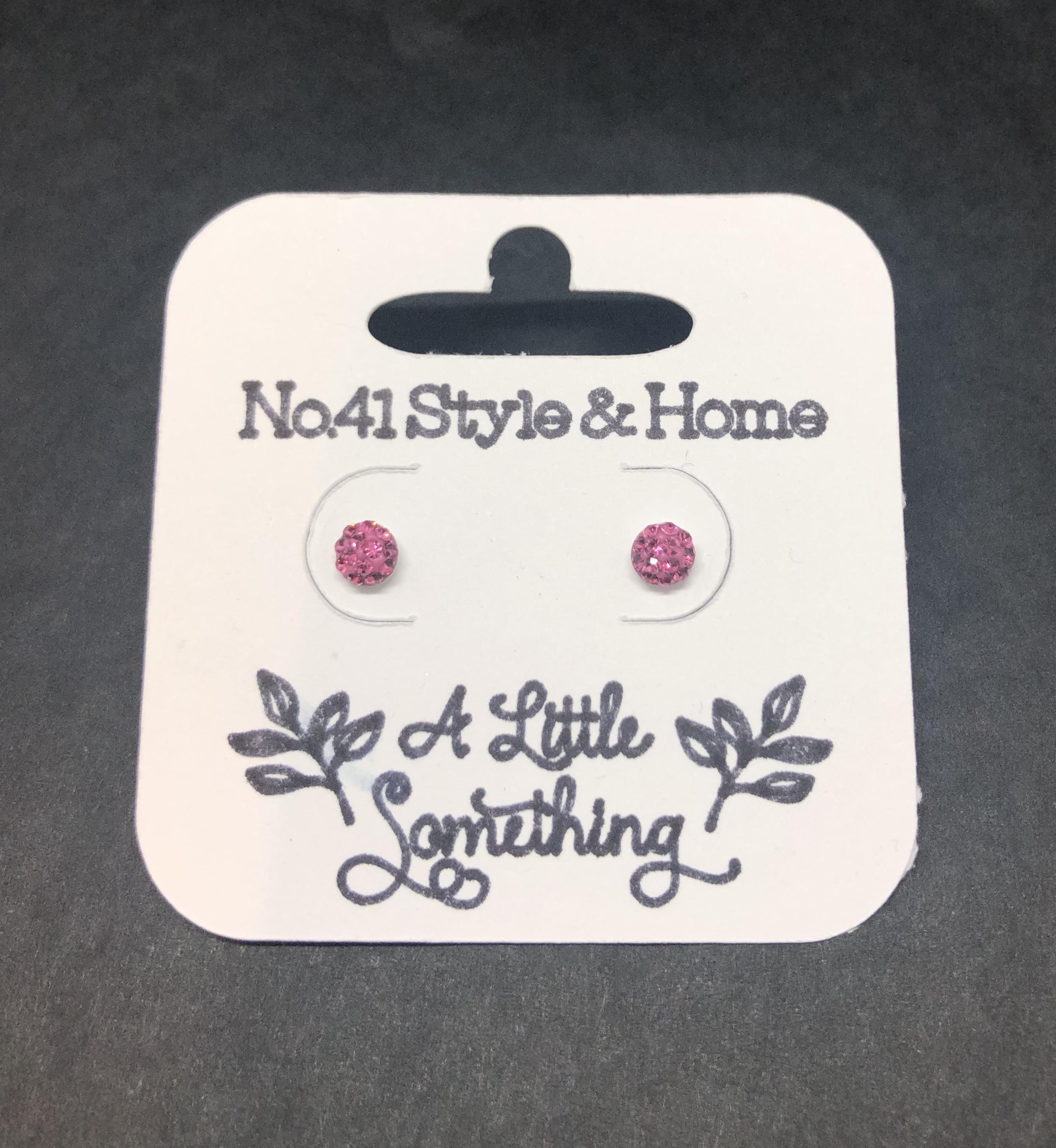 Small Shamballa Earrings