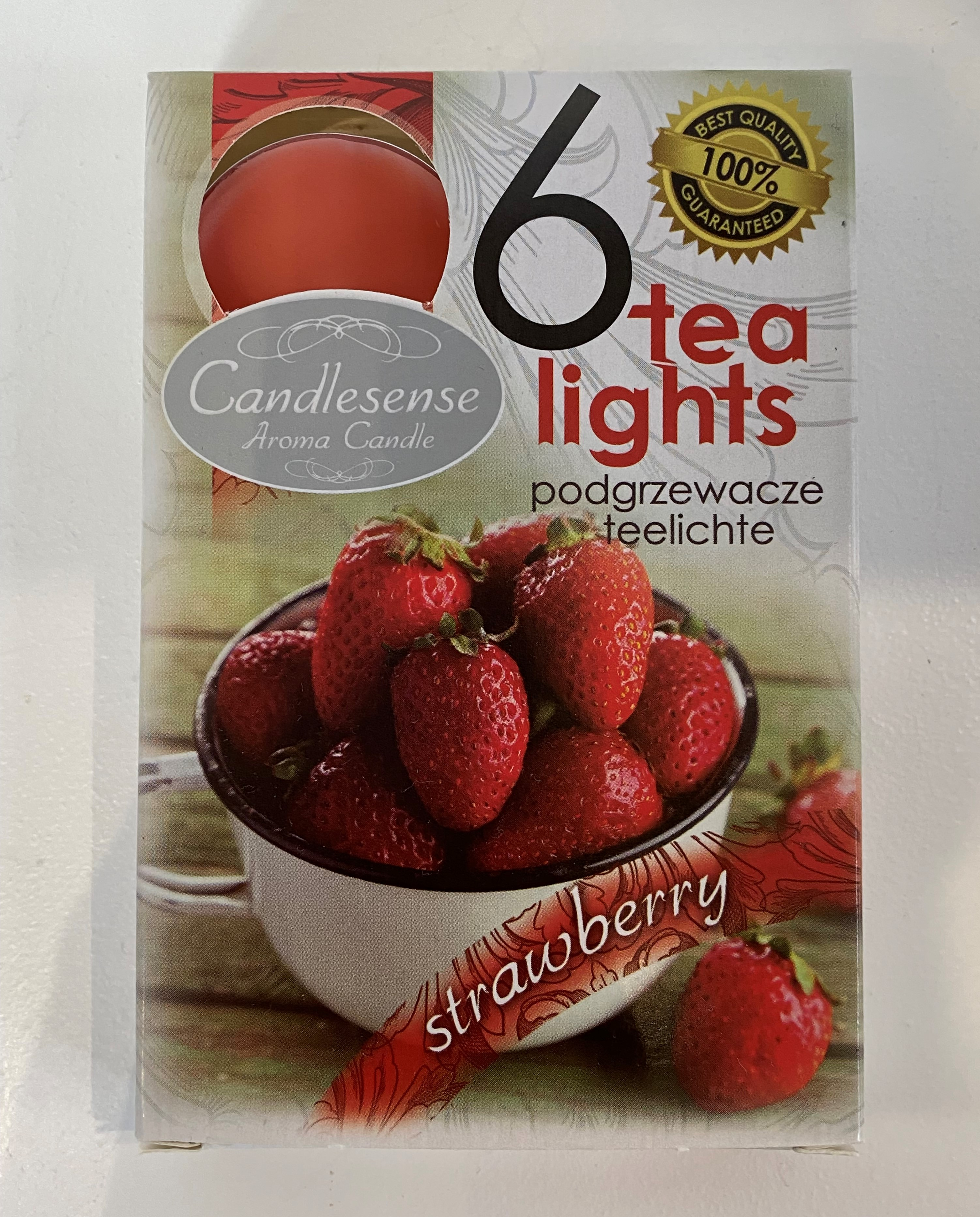 6 Scented Tea Lights - Strawberry