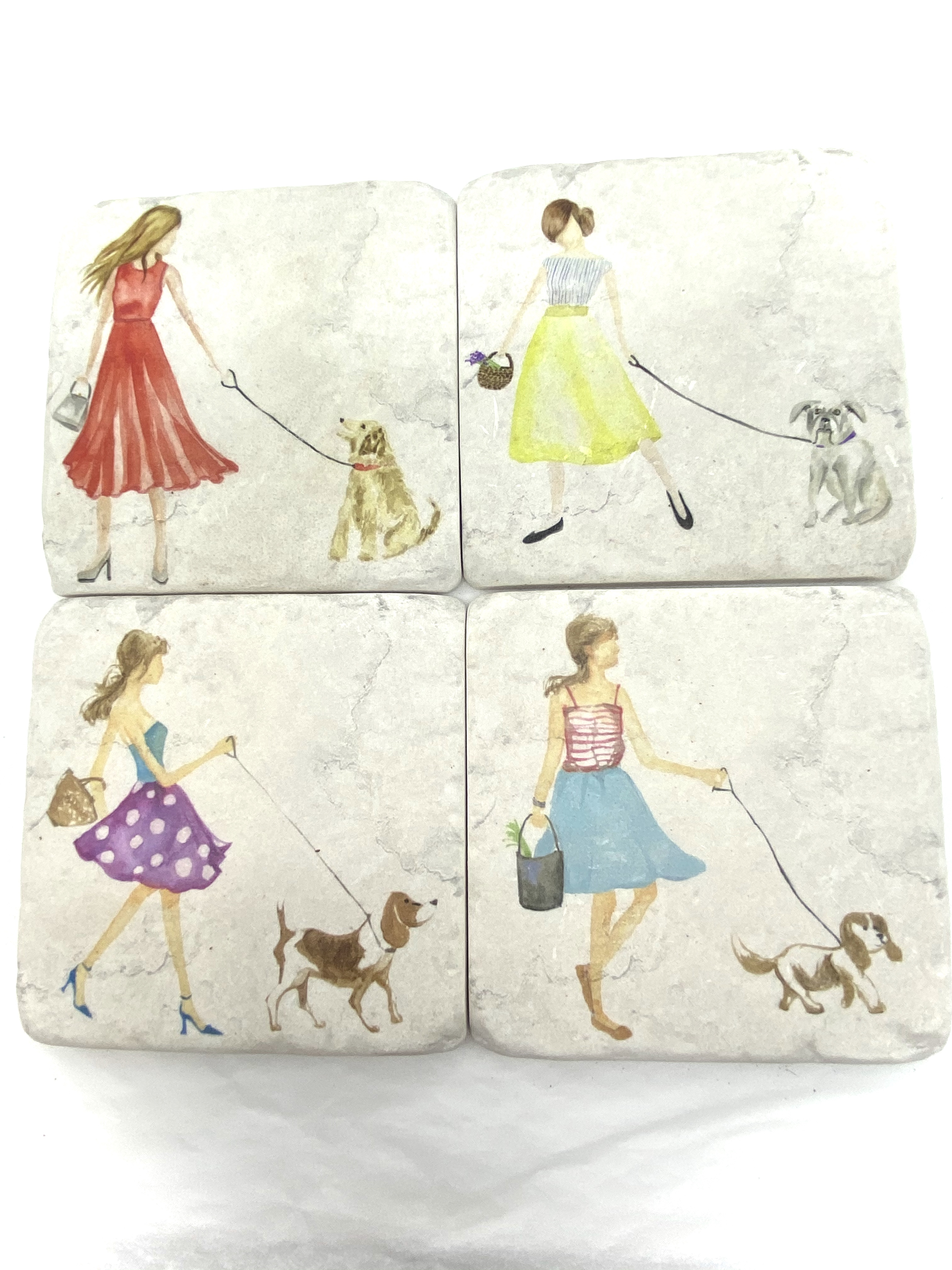 Coasters - Girl & Her Dog