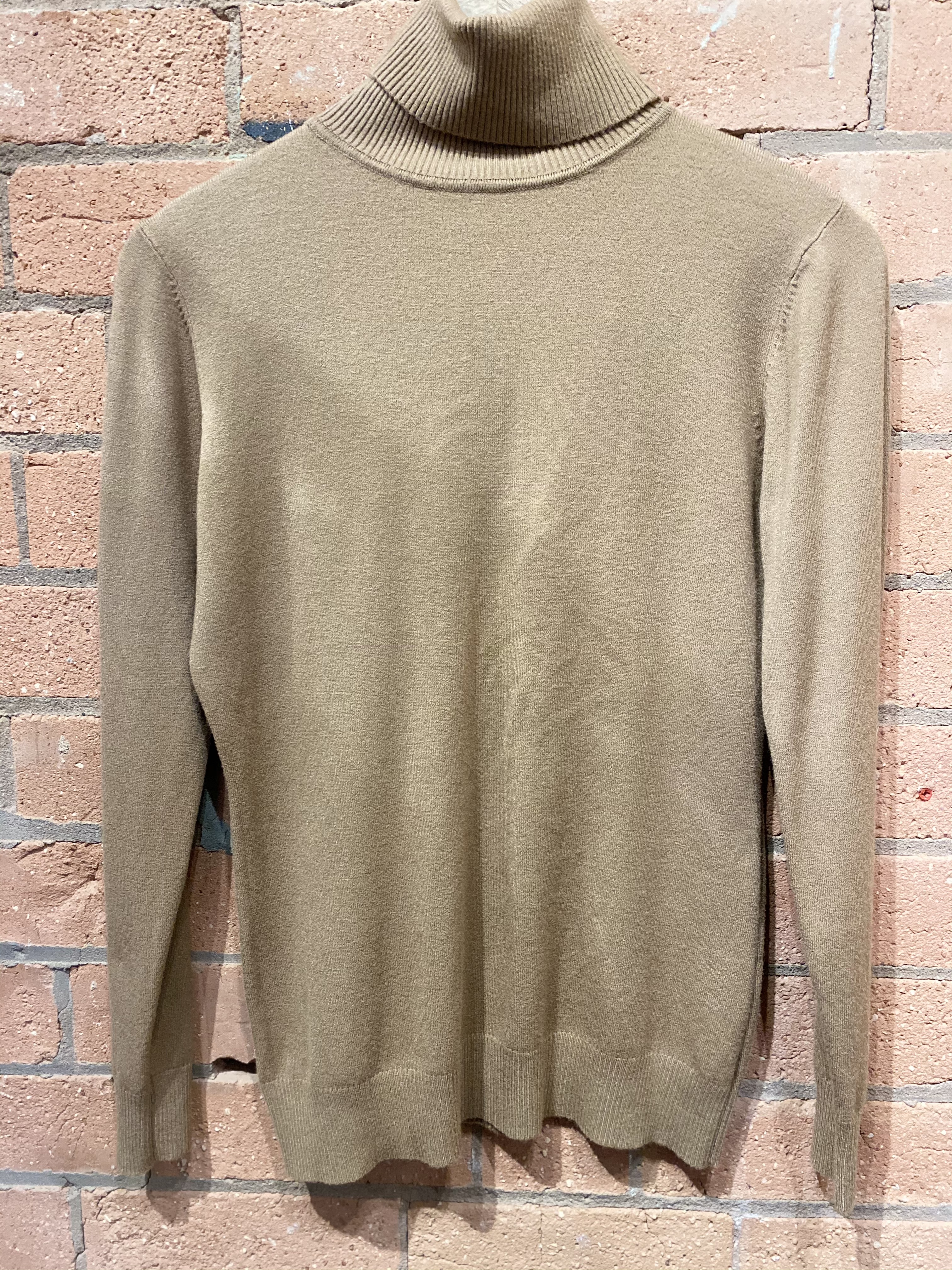 Now £10 Tan Soft Knit Polo Neck Jumper