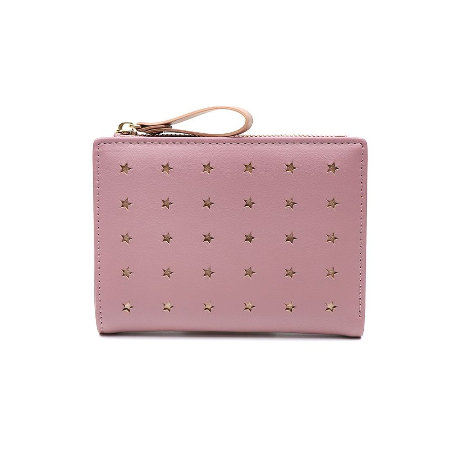 Compact Pink Purse with Rose Gold Stars