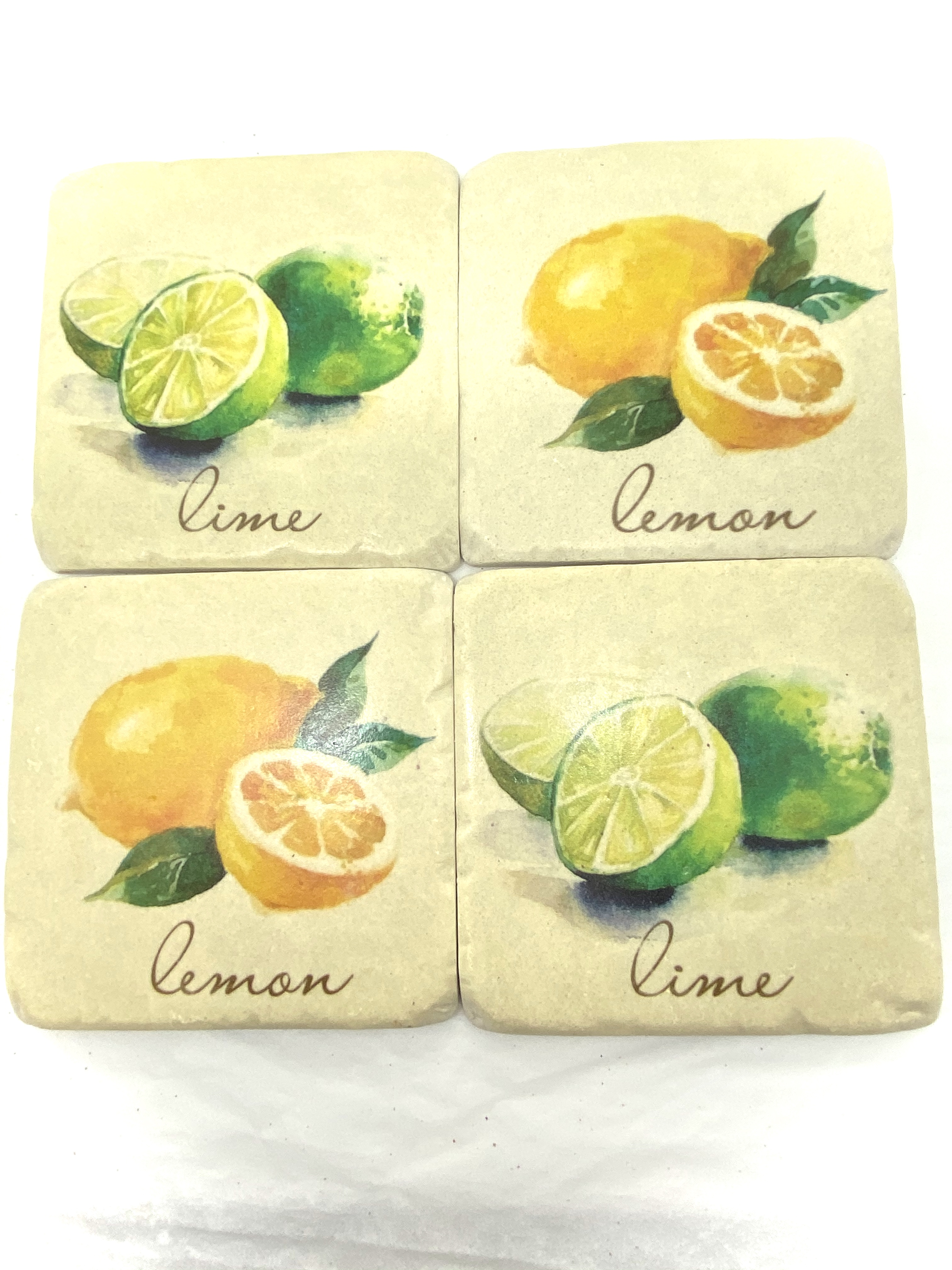 Coasters -Lemon & Lime