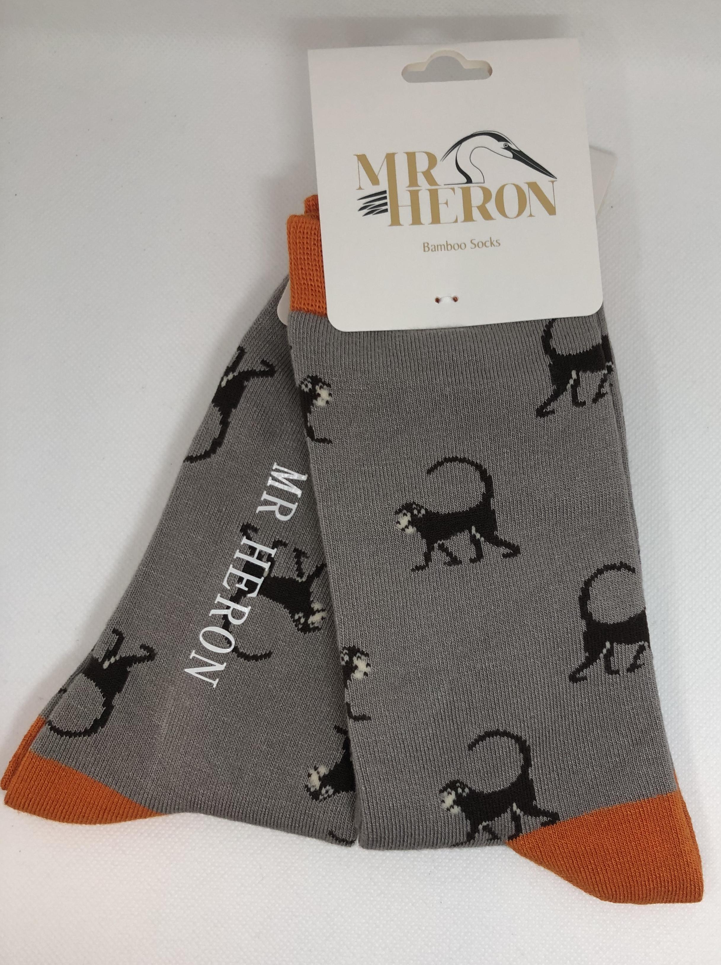 Monkey Socks Grey