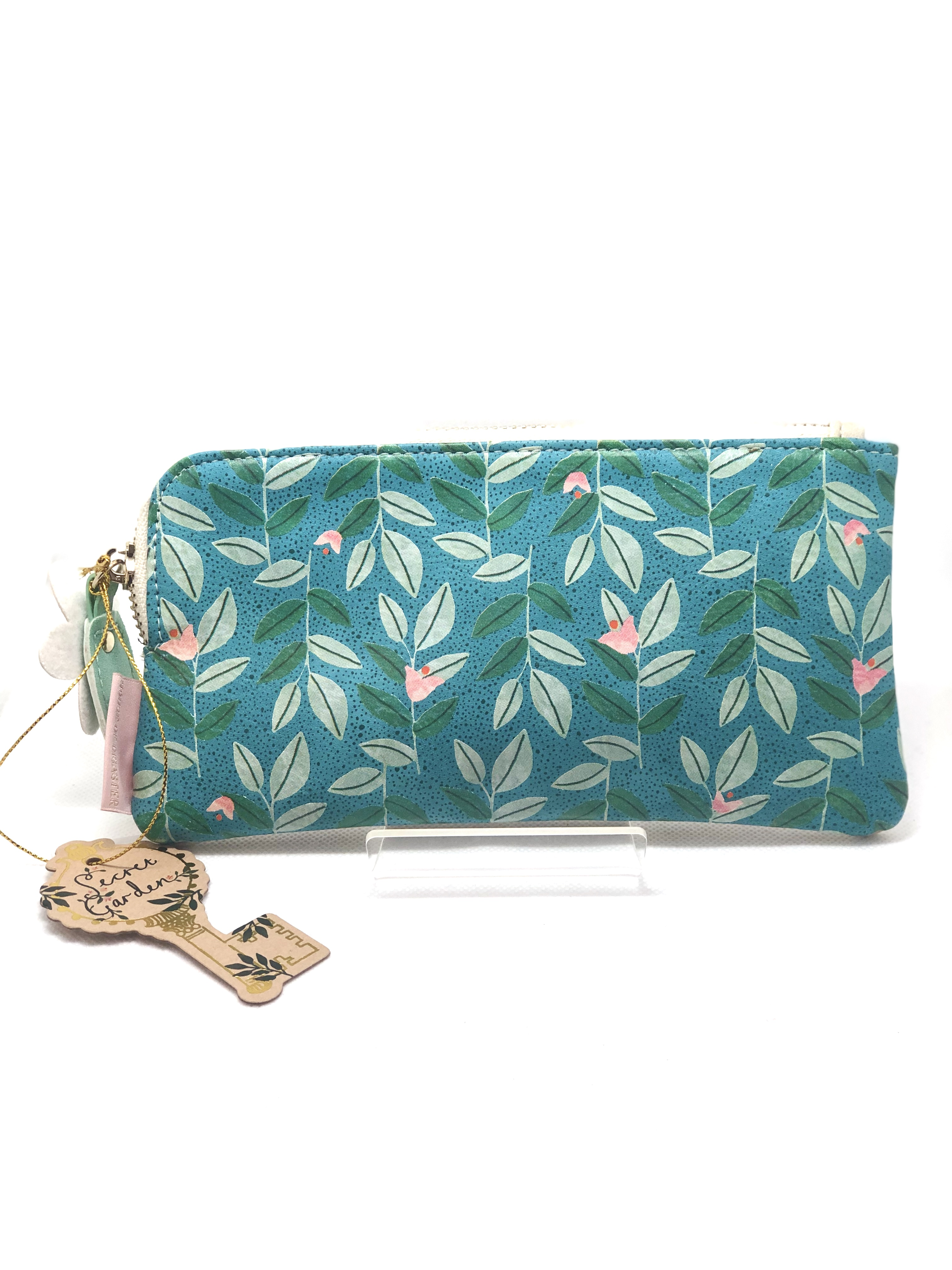 Floral Pouch with Flower Zip
