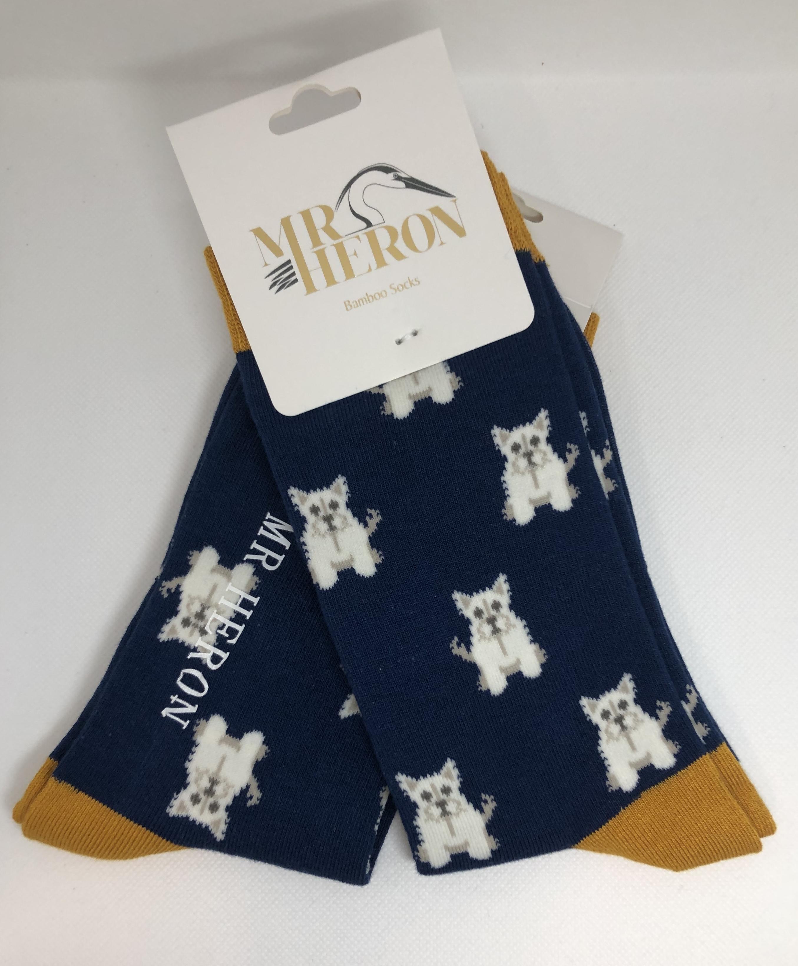 Mini Westies Socks Navy