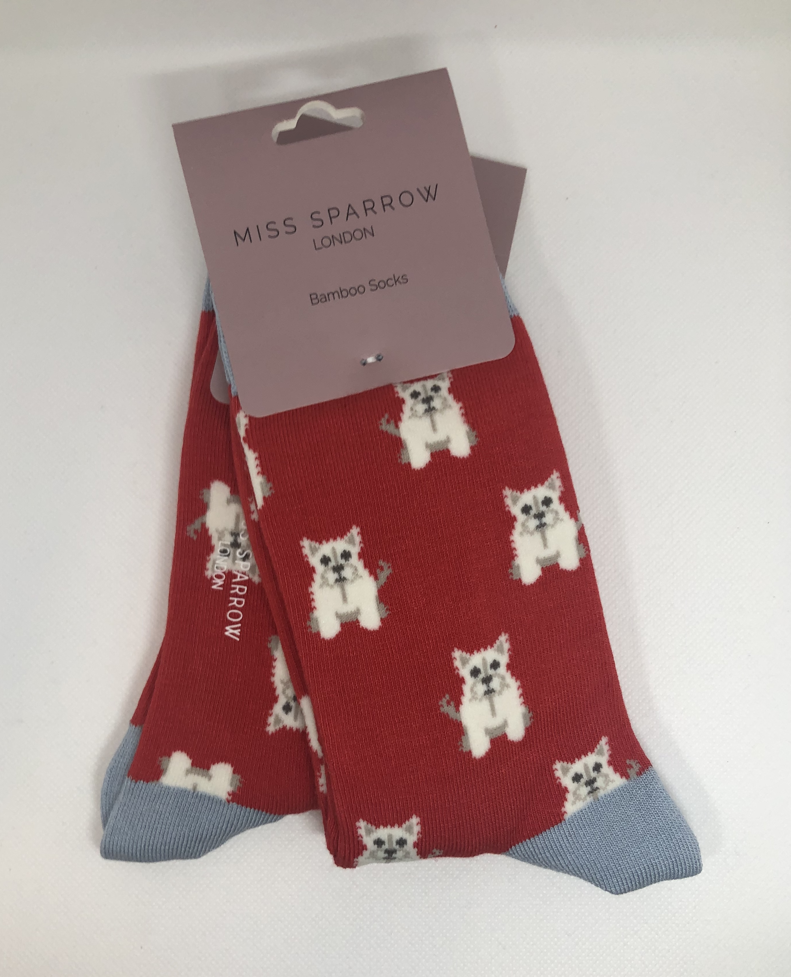 Mini Westies Red Socks