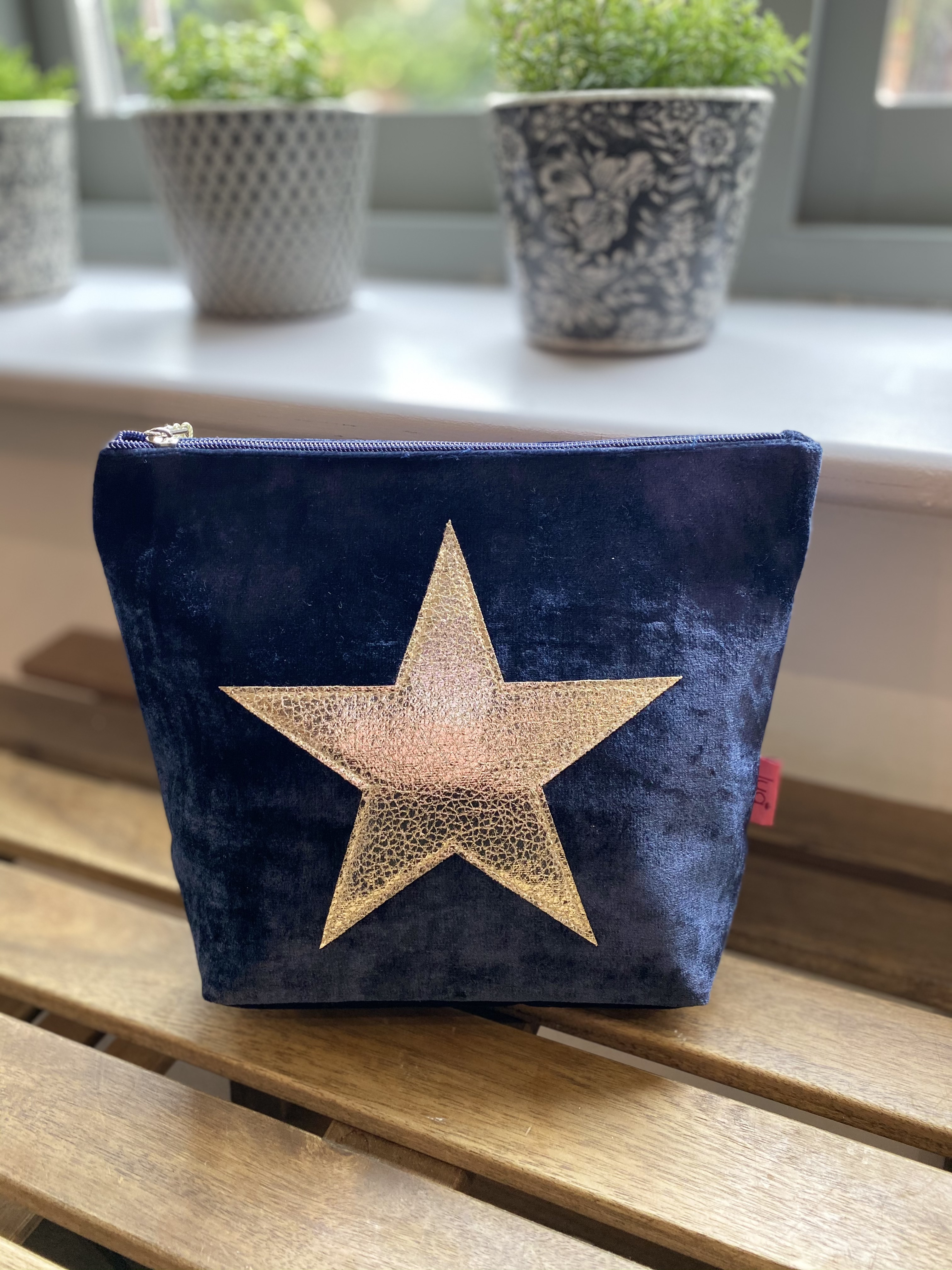 Lua Navy Large Cosmetic Purse
