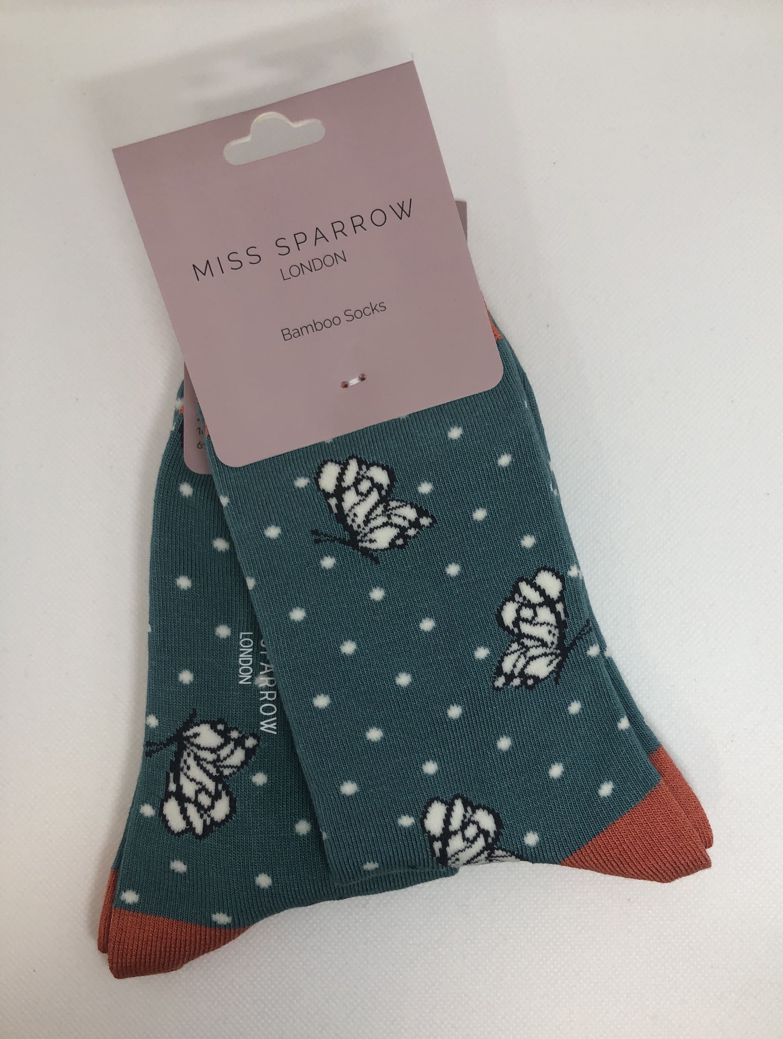 Butterflies Socks Teal